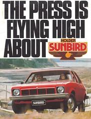 Holden Sunbird 1977 (Hugo-90, 35 million views) Tags: holden torana gm ads advertising brochure catalog 1977 sunbird rts radial tuned suspension