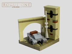 Imperial assault hovertank on Jedha (KW_Vauban) Tags: rogueone jedha imperialassaulthovertank starwars lego microscale microspacetopia