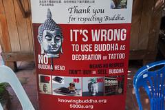 2016/07/23 15h24 avertissement (Wat Phra Singh) (Valéry Hugotte) Tags: bouddha buddha chiangmai thailand thaïlande watphrasingh pancarte panneau temple changwatchiangmai