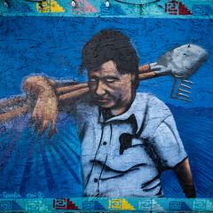 Cesar E. Chavez (Dennis Valente) Tags: 5dsr art cesarchavez contemporaryurbanart 2016 sw southwestern rooseveltrowartsdistrict mural spraypaint urbanart southwest wallart streetart valleyofthesun franciscoenufgarcia isobracketing arizona paint phoenix hdr rooseveltrow