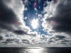 sun break (-gregg-) Tags: sun clouds sky ocean water cruise