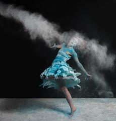 Winter Blues (Flick'gAbility) Tags: winter dance blue snow smoke model shoot rachaelheiman canonef24105mmf4lisusm