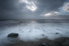 Ghostly (jillyspoon) Tags: scotland canon70d monreith sigma1020 ghostly leelittlestopper leefilters coast coastal sand beach tide longexposure water irishsea onerock