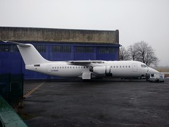 Evicted (Al Henderson) Tags: avro rj100 rj e3301 gbxas avalon aerospace cranfield egtc bedforshire aviation airliner
