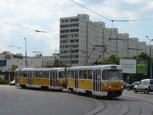 Moscow tram Tatra T3SU 3765