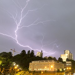 Brisbane storm (Straffo) Tags: lightning storm weather brisbane longexposure canon 6d 2017 summer