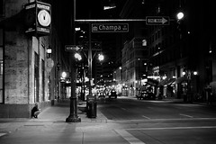 Big Dark World (Kelly Burkhart) Tags: people colorado 50mm denver street night leicam246 leicasummilux50mmf14asph
