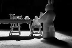 Breakfast (IGypsyWoman) Tags: lukecheuh prisoner toyphotography headspace designervinyl blackandwhite