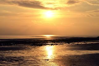 Shimmering sunset.