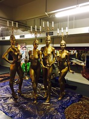 Beauty and The Beast Bodypainted Candelabras (Eva Rinaldi Celebrity and Live Music Photographer) Tags: beauty the beast bodypainted candelabras