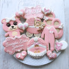 Teddy Baby Platter (cREEative_Cookies) Tags: baby shower girl cookies custom decorated sugar royal icing desserts food pink art babyshower harry potter elephant chic birds mason jar lace delicate flower sports its boy blessed baptism crib teddy bear kokeshi dolls sunshine clouds happy flowers girly boyish edible theme baked adorable roses daisies fondant booties shoes onesies bibs personalized sugarveil
