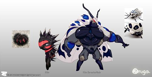 Character designer - illustration 70 | Oruga | Killer | Killer BerserkerMode