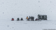 Lake of Bays -  Waiting out the storm (digithief) Tags: d500 nikon ontario forzenlake icefishing lakeofbays snow snowmobiles winter dwight canada ca