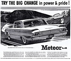 1960 Meteor Montcalm Sedan & Hardtop (aldenjewell) Tags: door two canada hardtop sedan four newspaper ad meteor 1960 montcalm