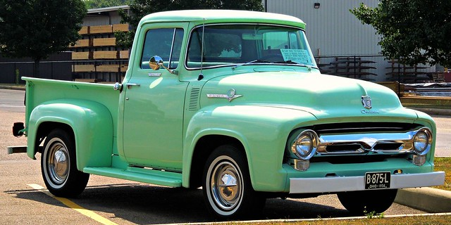 ohio truck pickup august pickuptruck 1956 mintgreen vintagevehicle 2015 hartvilleohio starkcountyohio 1956fordtruck