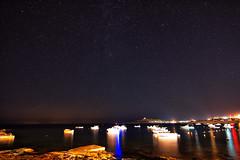 Seascape (ianc1990) Tags: sea sky seascape night dark stars boat mediterranean malta astro