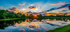 Evening Reflection (DonMiller_ToGo) Tags: sunset sky panorama lake nature reflections landscape florida sunsets panoramic g5 skyscapes hdr goldenhour onawalk skycandy 5xp hdrphotography 5exposures hdrpanoramic millerville sunsetmadness sunsetsniper panoimages3