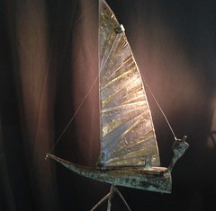(contemporary and modern art) Tags: art glass bronze boat ship yacht kunst dick stainedglass stained sail glas glasinlood zeilboot brons lood sailingboat blei 2015 bleiverglasung dickvanwijk