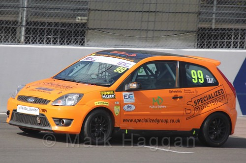 Alexander Tait in Race 1, Fiesta Junior Championship, Rockingham, Sept 2015