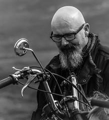 Zen Master (pootlepod) Tags: street blackandwhite men boys monochrome leather bike vintage photography motorbike zen cycle motor riders zenmaster stphotographia