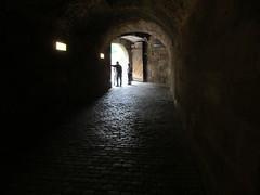 Dark passage, walls of Nuremberg, Germany (Paul McClure DC) Tags: castle architecture germany bayern deutschland bavaria nuremberg franconia historic franken nrnberg may2015