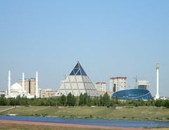 Astana, capital, Kazakhstan (HaroonBJ) Tags: building capital bluesky kazakhstan astana