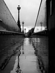 Reflections of Blackfriars (ramm) Tags: street blackandwhite bw london rain thames olympus blackfriars raining em1 1240mm