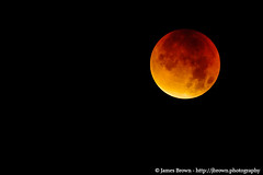 Blood Moon (100% Illuminated) (28th September 2015) (J. Brown Photography) Tags: brown moon photography james eclipse photo blood sony super september astrophotography half alpha lunar 28th 2015 supermoon