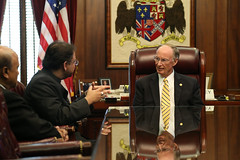 10-08-2015 Consul General Nagesh Singh Meeting with Governor Bentley