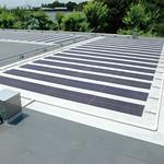 ソーラー一体型シート防水システムの写真