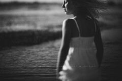 You are good enough. (privizzinis passion photography) Tags: ocean people blackandwhite motion beach water girl monochrome childhood movement child emotion wind depthoffield emotive freelensing freelensed
