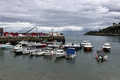 Port de Rozel (Lucille-bs) Tags: mer port eau europe ciel jersey nuage bateau quai jetée rozel baraque royaumeuni grandebretagne