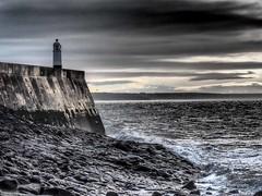 Porthcawl 2015 11 11 #35 (Gareth Lovering Photography 5,000,061) Tags: sea lighthouse wales landscape town seaside sand rocks olympus bridgend porthcawl lovering 714mm 1240mm
