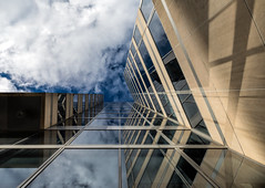 Angle-Up Architecture (Darren LoPrinzi) Tags: city windows light sky urban building geometric architecture clouds canon buildings washingtondc dc shadows geometry perspective architectural lookingup 5d canon5d miii