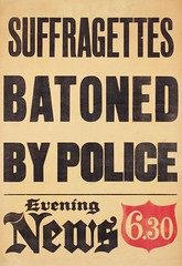 Suffrage in the press: Suffragettes Batoned By Police, c.1912.