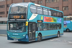 Arriva North West 4675 SK15GZN (Will Swain) Tags: city uk travel england west bus buses station liverpool docks one october britain centre north transport vehicles 400 vehicle 31st enviro merseyside arriva 2015 4675 sk15gzn