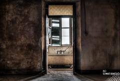 Bathroom with a View (Wilga [notrespassing.pl]) Tags: abandoned vintage dark bathroom ruins moody darkness decay eerie creepy nostalgia forgotten urbanexploration horror nostalgic past derelict urbex modernruins istory opuszczone eksploracja zapomniane overgivnaplatser