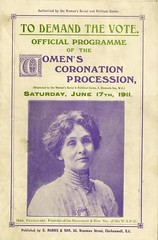 Women's Coronation Procession programme cover, 1911