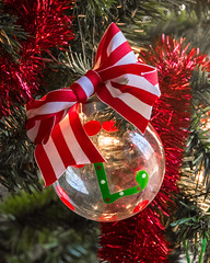 Holiday Red (Explored) (lclower19) Tags: christmas red holiday green vertical ornament bow odc explored atsh
