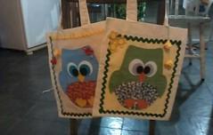 mais sacolas de coruja (feito a mao, feito a feltro) Tags: coruja feltro sacola
