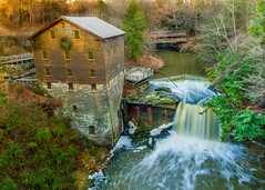Lanterman's Mill (TWK2011) Tags: lantermans mill creek state park ohio northeastern north east forest winter spring water falls waterfall waterfalls river rivers brown overcast day daylight foliage stone covered bridge colorful balance layering layer