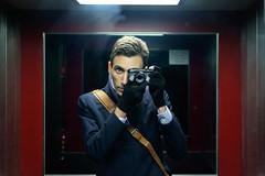 Self portrait in elevator with Fuji X-E2 + XF 35mm f2 (Kristoffer Trolle) Tags: selfportrait elevator fujixe2 fujixf35mmf2 selfie guy camera farnborough england 2016 creativecommons xf35mmf2