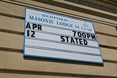 Masonic Lodge, Bedford, IN (Robby Virus) Tags: bedford indiana in masonic lodge masons freemasons fam dunn memorial temple sign signage fraternal organization