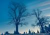 Silence (RaeofGold) Tags: illinois cemetery tombstones monuments graveyard silence blue bleak winter peeblespair raeofgoldphotoart wintertrees solitude sadness