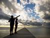 New Horizon (Indigo&Mandarynn) Tags: people bridge ponton silhouette sea mer nouvellecalédonie newcaledonia contrejour olympus omdem1 micro43 zuiko1240mmf28 blue island