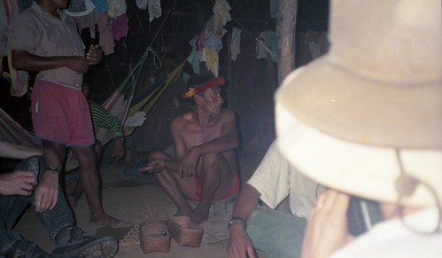 The shaman offers to perform the yopo cerimony