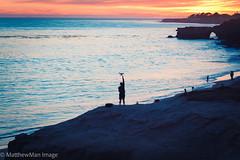 The Drone Boy (matthew_image) Tags: drone boy man santacruz santa cruz sunset sunsets sea ocean water silhouette canon california scphoto twop