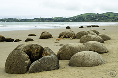 Moeraki boulders (My Wave Pics) Tags: beach sea moeraki nature ocean new rock coast zealand coastline pacific landmark sand boulder natural famous south geology coastal stone sky tide geological landscape sphere erosion island scenic spherical sunset dramatic round sunrise water surf boulders otago southland balls scenery beauty beautiful phenomenon phenomena clouds waves view cloud isolated