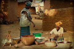 Preparing chocolate in the village, Mali (Elena14u2012) Tags: mali villagelife tradition chocolate africa