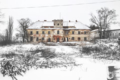 Abandoned winter. (C O L O U R S O F D E C A Y) Tags: abandoned abadnonedplaces urbex urban exploration urbanexploration explore castle winter snow forgotten lost decay decaying nikon black white trees nature land czphoto cz czech